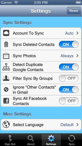 contacts sync for google gmail iphone app review ah mazing. Black Bedroom Furniture Sets. Home Design Ideas