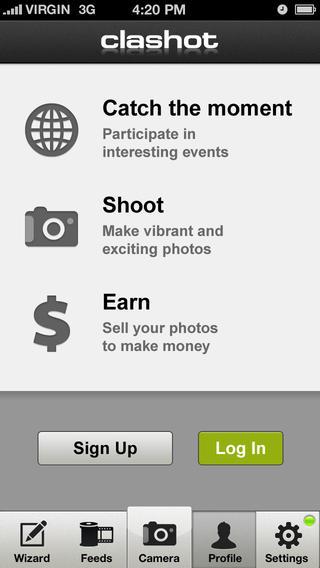 Clashot iPhone App