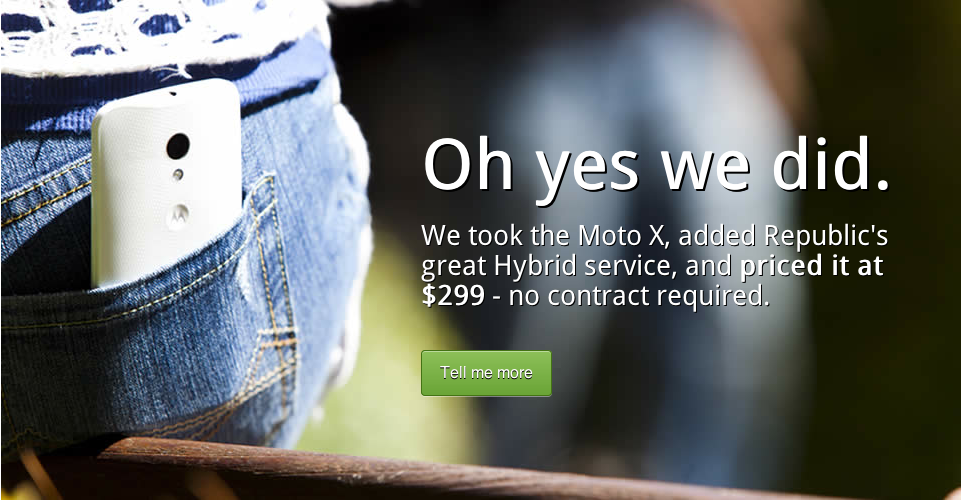 Moto X Ad from Republic Wireless