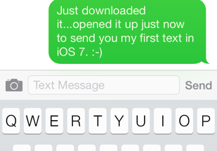 iOS 7 iMessage app