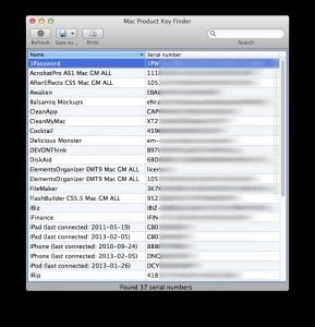 Mac Product Key Finder Mac App