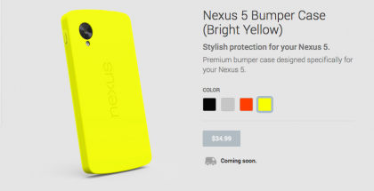 Nexus 5 Yellow Bumper Case
