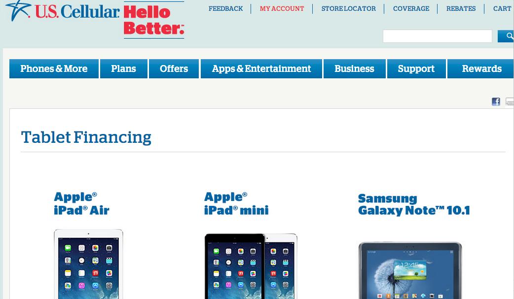 US Cellular Tablet Financing Plan