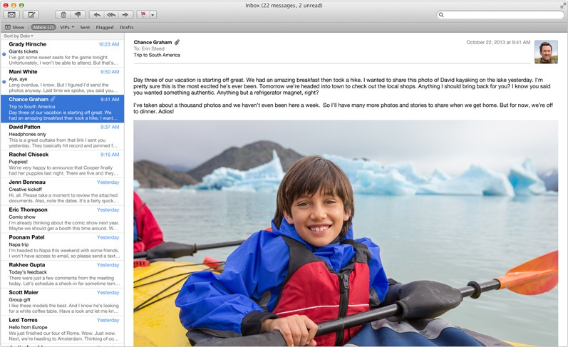 mavericks mail Apples Mavericks Mail Update released to developers