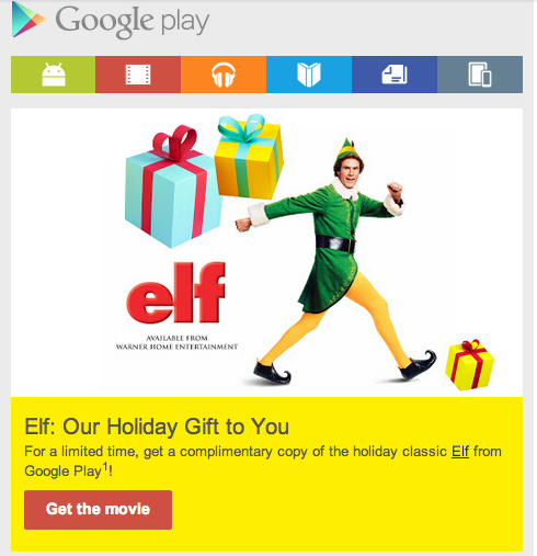 Google Play Offers Free Elf Movie for Download