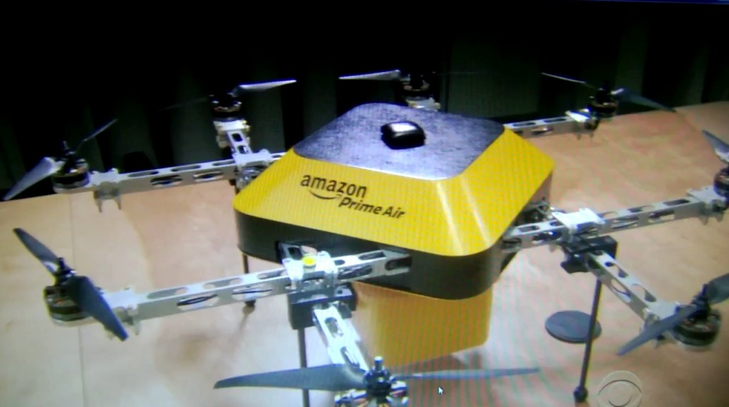 Amazons Jeff Bezos Shows Off Delivery Drones