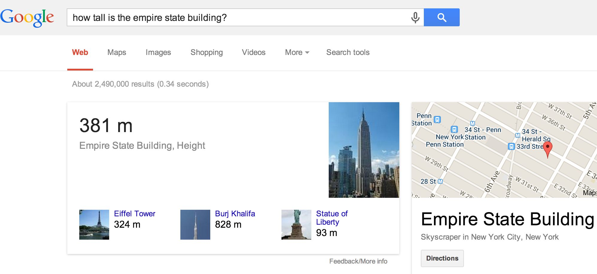 Google Hummingbird: Knowledge Graph