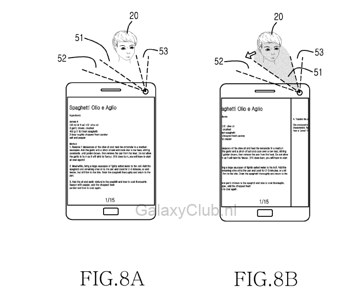 samsung galaxy s5 eye head tracking patent 1 Samsung Galaxy S5 may feature head tracking gesture controls