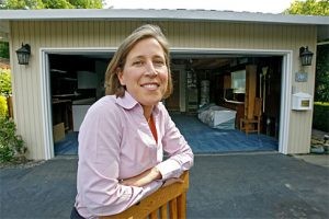 Susan Wojcicki at the garage that once was Google