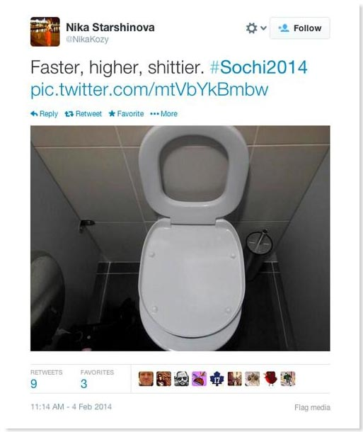 Sochi Toilet #SochiProblems   Sochi 2014 Off to a Rocky Start