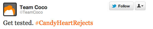 rejected candy hearts tweet
