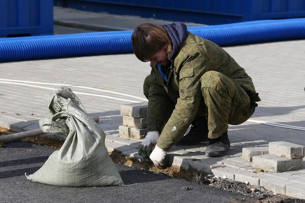 final paving #SochiProblems   Sochi 2014 Off to a Rocky Start