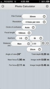 Douglas Photo Calculator iPhone App
