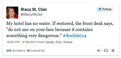 tweet #SochiProblems   Sochi 2014 Off to a Rocky Start