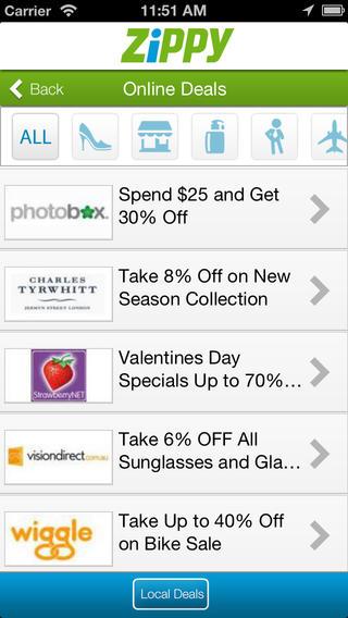 Zippy Australian coupon app
