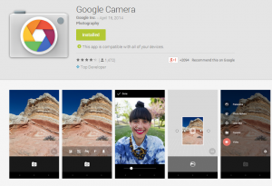 Google's Own Camera App Released On Play Store