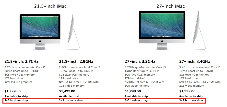 2013 imac shipping delay Cheap iMacs Coming at WWDC 2014? The Timing Seems Right