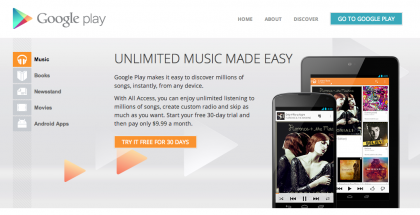 Canada Receives Google Play Music