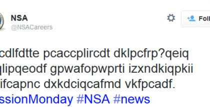 NSA Saves America By Hiring Through Tweets
