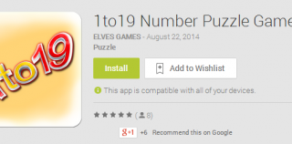 1to19 Number Puzzle Game Android App Review