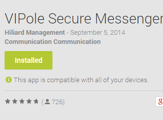 VIPole Secure Messenger Android App Review