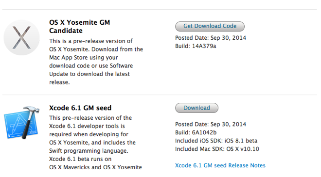 While we don't have a date for the public release, Apple has taken a concrete step toward shipping OS X 10.10 by seeding Yosemite gold master to developers