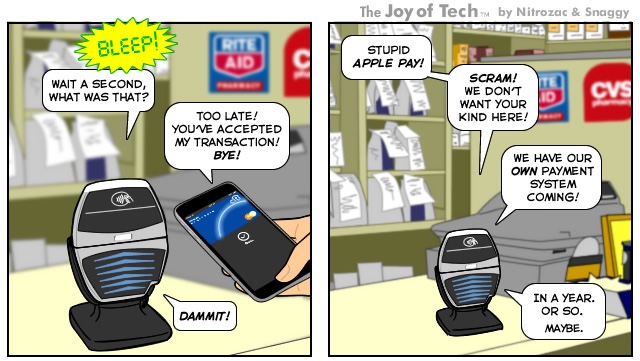 Click through for the rest of this and other excellent tech inspired comics from The Joy of Tech.