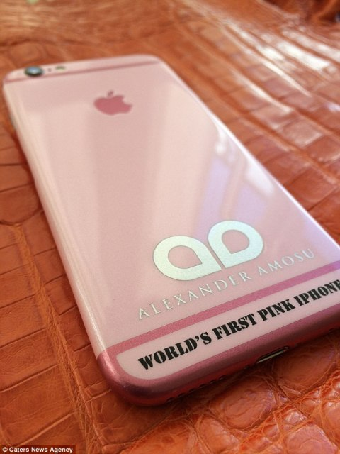 World's first pink iPhone 6