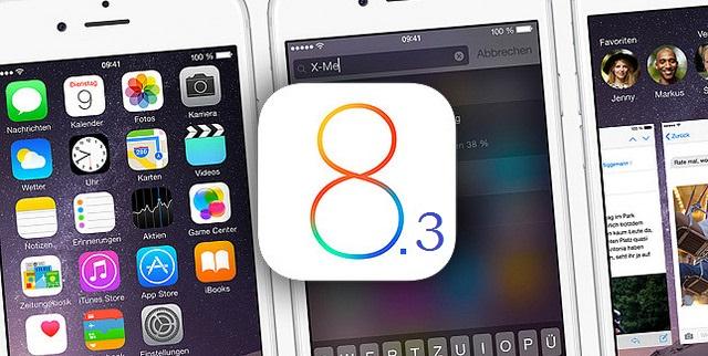 iOS 8.3 - svetapple.sk