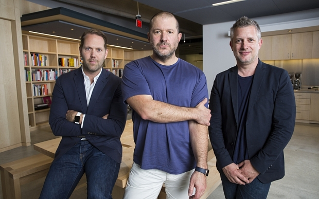 (left to right) Alan Dye, Jony Ive, and Richard Howarth.