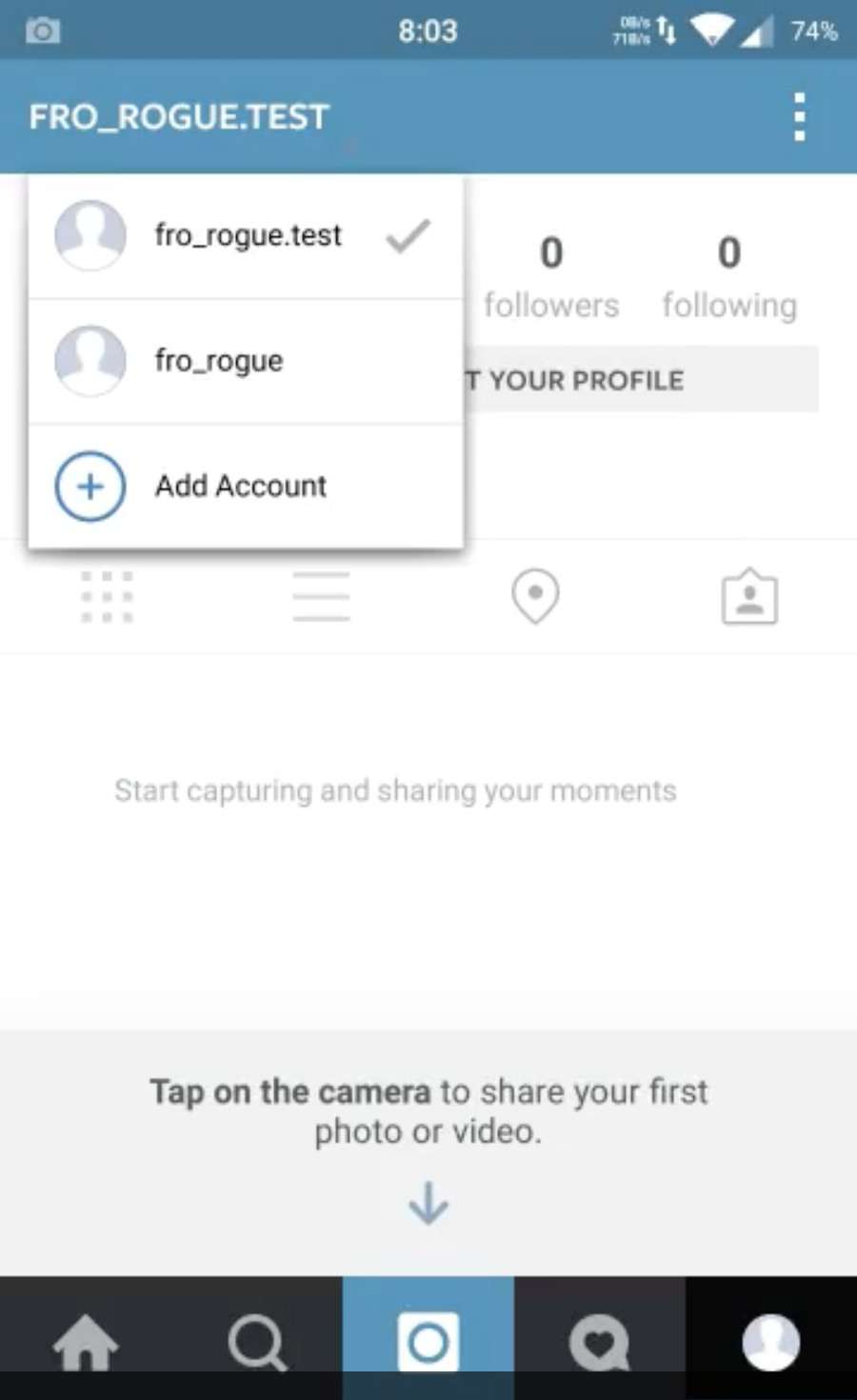 instagram how to clear searches