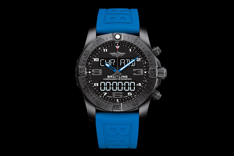 Breitling Exospace B55 Smartwatch with blue strap