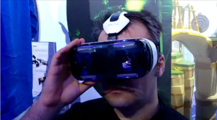 Samsung Gear VR in use