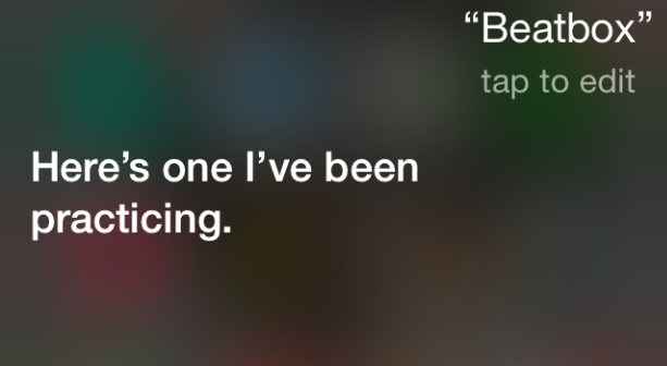 ask siri to beatbox