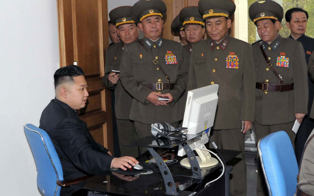 Kim Jong Un, presumably using Red Star OS