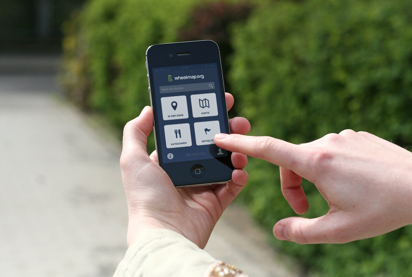 Wheelmap App iPhone