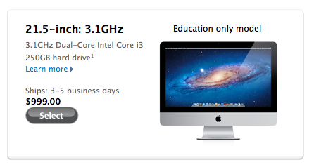 "Apple Launches $999 ""Education Only"" iMac"