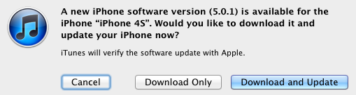 Apple Releases iOS 5.0.1, Fixes iPhone 4S Battery Life Issues