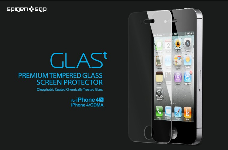Get GLASt with the Spigen Tempered Glass Screen Protector for iPhone 4S