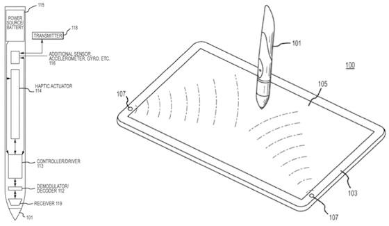 haptic stylus for iPad