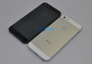Leaked photos showing the iPhone with a new casing, and smaller dock connector.