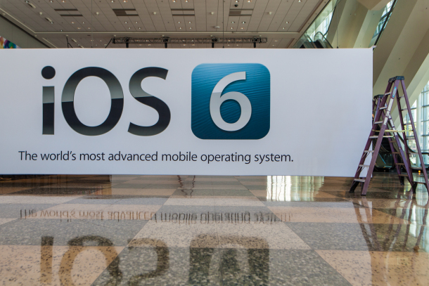 iOS 6 Banner in the Moscone Centre