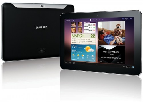 The offending tablet - Samsung Galaxy Tab 10.1