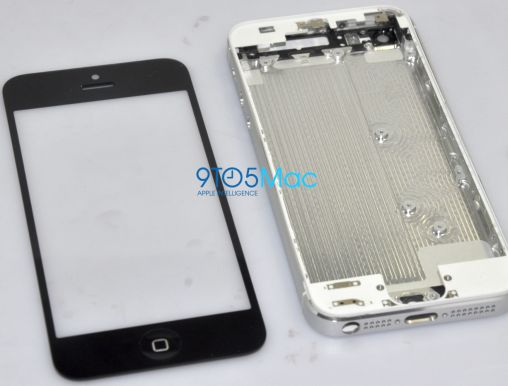 White iPhone 5 Backplate and Black iPhone 5 Bezel