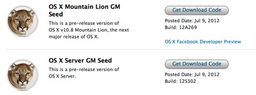 Apple is preparing to ship its next-gen desktop operating system delivering OS X Mountain Lion Golden Master to developers. Final code is expected on on July 25.
