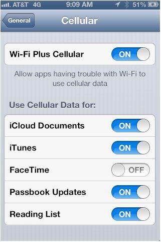 Latest iOS 6 Beta has a Wi-Fi Plus Cellular Feature