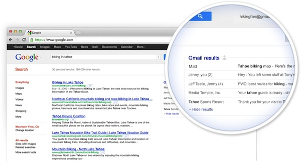 Gmail Content Now Populates Google Search Results…….With your Permission