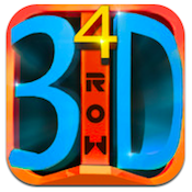 4 IN A 3D ROW iPhone app