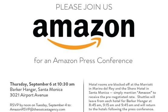 Rumor- New Amazon Tablet to be announced at September 6th press event