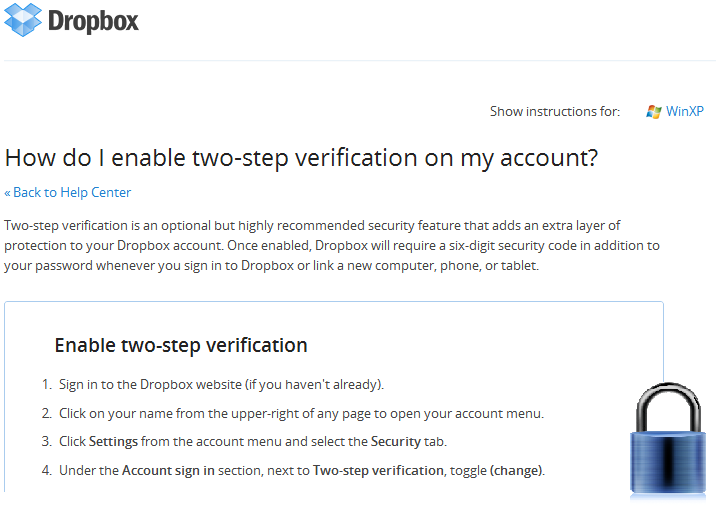 PSA - Dropbox now offering two-step verification for extra security